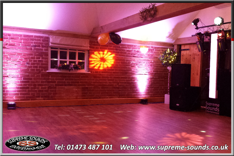 mobile disco Ipswich up-lighters