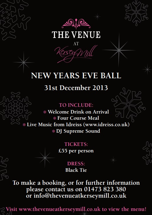 New Years Eve Ipswich Suffolk