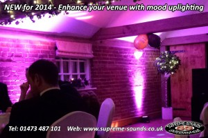 wedding dj uplights ipswich