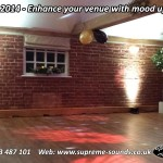 wedding dj uplights suffolk